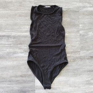 Black Classic Side Boob Missguided Bodysuit